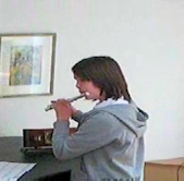Sarah with the flute