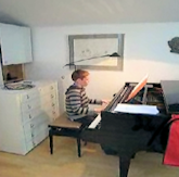 Timmy at the piano